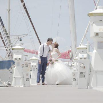 グアムのヨットハーバーでロケーション撮影!超快晴!