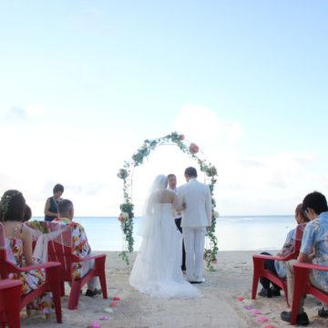 AKB48のPVロケにも使われた美しいグアムのハガニアビーチで挙式♪